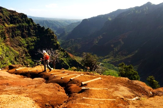 Kauai Waimea Hawaii hiking trail attraction