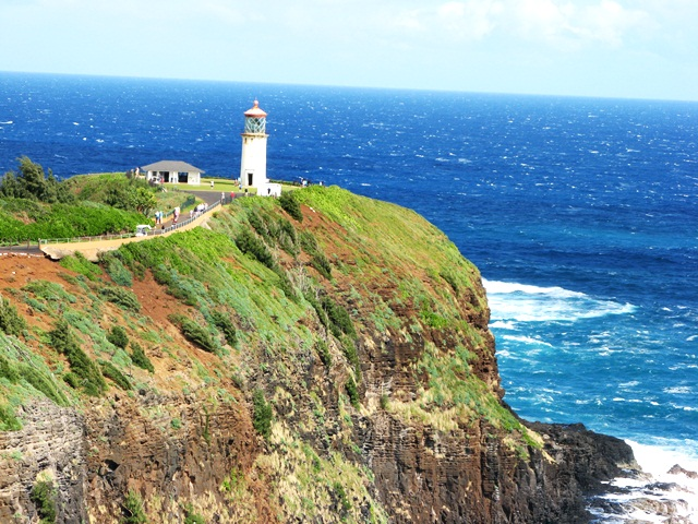 cool Kilauea lighthouse in Kauai Hawaii